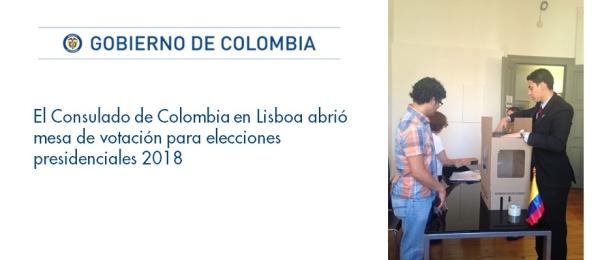 Consulado de Colombia en Lisboa abrió mesa de votación para elecciones presidenciales 2018