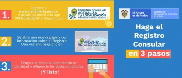 El Consulado de Colombia en Lisboa invita a los connacionales a realizar el registro consular en 2021